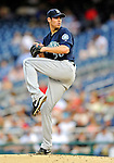 21 June 2011: Seattle Mariners pitcher Doug Fister on the mound against the Washington Nationals at Nationals Park in Washington, District of Columbia. The Nationals rallied from a 5-1 deficit, scoring 5 runs in the bottom of the 9th, to defeat the Mariners 6-5 in inter-league play. Mandatory Credit: Ed Wolfstein Photo