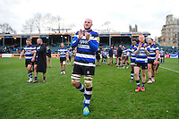 Matt Garvey of Bath Rugby leads his team-mates around the field after the match. Aviva Premiership match, between Bath Rugby and Saracens on December 3, 2016 at the Recreation Ground in Bath, England. Photo by: Patrick Khachfe / Onside Images