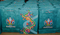 20161216 - AMSTERDAM , NETHERLANDS : illustration picture of Uefa Euro 2020 goodie bag during the UEFA EURO 2020 Host City Logo Launch event at the Hermitage Amsterdam Venue in Amsterdam , The Netherlands , Friday 16 th December 2016 . PHOTO UEFA.COM | SPORTPIX.BE | DAVID CATRY