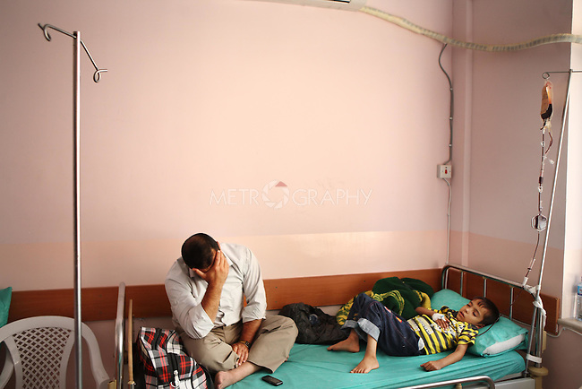 Thalassaemia is usually diagnosed amongst children who must be under constant treatment just to stay alive. The illness is hereditary and often is a result of intermarriage between cousins.  There are more than 2500 cases in Kurdistan.<br /> <br /> Photo by Rawsht Twana/Metrography