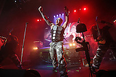 SABATON - vocalist Joakim Broden - performing live at the O2 Academy in Glasgow Scotland UK - 11 Jan 2017.  Photo credit: Paul Harries/IconicPix **NOT AVAILABLE FOR UK MUSIC MAGAZINES**