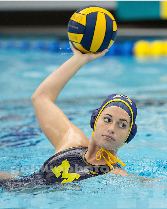 The University of Michigan women's water polo team beat Mercyhurst, 25-3, at Canham Natatorium in Ann Arbor, Mich., on March15, 2013.