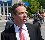 MAY 30, 2011 - Little Neck, New York, U.S. - New York Governor ANDREW CUOMO (Democrat) looking to side, as he marches in Little Neck-Douglaston Memorial Day Parade, which honors America's veterans, on Northern Boulevard.