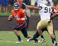Sept. 3, 2011 - Charlottesville, Virginia - USA; Virginia Cavaliers quarterback Michael Rocco (16) looks to throw the ball during an NCAA football game against William & Mary at Scott Stadium. Virginia won 40-3. (Credit Image: © Andrew Shurtleff