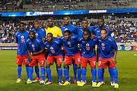 Haiti starting XI during a CONCACAF Gold Cup group B match at Red Bull Arena in Harrison, NJ, on July 8, 2013.