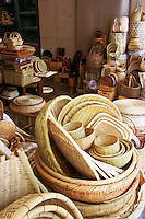 Baskets and wickerware shop in Kappabashi, the restaurant and kitchenware district of Asakusa, Tokyo.
