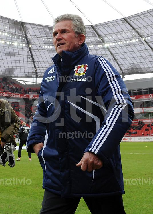 FUSSBALL  1. BUNDESLIGA   SAISON 2009/2010  18. SPIELTAG Bayer 04 Leverkusen - FSV Mainz 05                     16.10.2010   Trainer Jupp Heynckes (Leverkusen) in der BayArena in Leverkusen