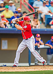 3 March 2016: Washington Nationals infielder Trea Turner in action during a Spring Training pre-season game against the New York Mets at Space Coast Stadium in Viera, Florida. The Nationals defeated the Mets 9-4 in Grapefruit League play. Mandatory Credit: Ed Wolfstein Photo *** RAW (NEF) Image File Available ***