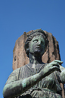 DIANA, statue, bronze, Pompeii, near the temple of Apollo, 2nd century BC, West of the Forum. Detail of head