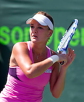 Agnieszka RADWANSKA (POL) against Ana IVANOVIC (SRB) in the third round of the women's singles. Radwanska beat Ivanovic 7-5 7-5..International Tennis - 2010 ATP World Tour - Sony Ericsson Open - Crandon Park Tennis Center - Key Biscayne - Miami - Florida - USA - Sat 27 Mar 2010..© Frey - Amn Images, Level 1, Barry House, 20-22 Worple Road, London, SW19 4DH, UK .Tel - +44 20 8947 0100.Fax -+44 20 8947 0117