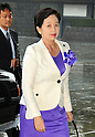 September 2, 2011, Tokyo, Japan - Yoko Komiyama, newly-appointed minister of of Health, Labor and Welfare, arrives for an attestation ceremony before Emperor Akihito at the Imperial Palace in Tokyo on Friday, September 2, 2011. (Photo by Natsuki Sakai/AFLO) [3615] -mis-