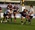 Jordan Turner-hall gets pulled back. England V Fiji Junior Rugby World Cup 2008 © Ian Cook IJC Photography iancook@ijcphotography.co.uk www.ijcphotography.co.uk..