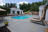 The outdoor swimming pool at the Albemarle Estate at the Trump Winery in Charlottesville, Virginia on Tuesday, July 14, 2015.  Its owner, Donald Trump, a candidate for the 2016 Republican nomination for President of the United States, was appearing in Charlottesville for the ribbon cutting opening the property to guests.<br /> Credit: Ron Sachs / CNP<br /> <br /> (RESTRICTION: NO New York or New Jersey Newspapers or newspapers within a 75 mile radius of New York City)
