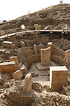 Gobekli Tepe near Urfa in Turkey is the Archaeological site of the Worlds oldest known religious structure. Predating Stonehenge by over 6000 years. Discovered by Klaus Schmidt it features Megalithic Stone Slabs arranged and Carved with Abstract Animal and Plant Designs, done by a Prehistoric/Neolithic hunter gatherer people.