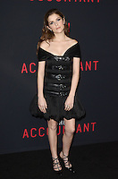 HOLLYWOOD, CA - OCTOBER 10: Anna Kendrick at The Accountant World Premiere at the Chinese Theater in Hollywood, California on October 10, 2016. Credit: David Edwards/MediaPunch