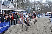 WIELRENNEN: SURHUISTERVEEN: 02-01-2014, <br /> Centrumcross, winnares Marianne Vos, &copy;foto Martin de Jong