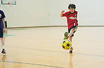 Sam plays soccer at the Campus Recreation Day Camp in the Ping Center. Photo by Ben Siegel/ Ohio University