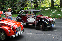 Members of the Greater New York Citorën and Velosolex Touring Club bring out their lovingly restored Citroën automobiles for their Bastille Day Rendez-Vous, seen on Riverside Drive in New York on Sunday, July 14, 2013. The parade of over a dozen Citroëns, including 2CV, DB series models, a truck and a traction avant started on Riverside Drive and traveled through the streets of Manhattan. The owners are dedicated to restoring and caring for their vehicles and share tips and information on repairing and restoring them. (© Frances M. Roberts)Members of the Greater New York Citorën and Velosolex Touring Club bring out their lovingly restored Citroën automobiles for their Bastille Day Rendez-Vous, seen on Riverside Drive in New York on Sunday, July 14, 2013. The parade of over a dozen Citroëns, including 2CV, DB series models, a truck and a traction avant started on Riverside Drive and traveled through the streets of Manhattan. The owners are dedicated to restoring and caring for their vehicles and share tips and information on repairing and restoring them. (© Richard B. Levine)