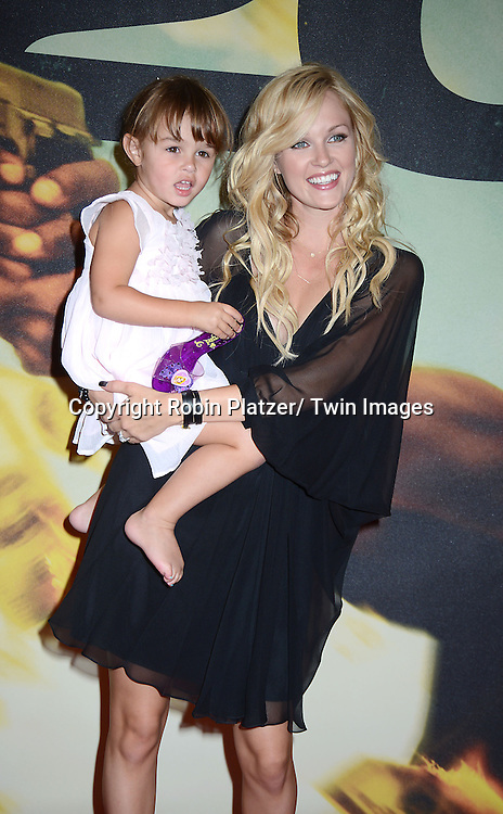 Ambyr Childers and daughter  London attend the World Premiere of &quot;2 Guns&quot; on July 29, 2013<br /> at The SVA Theatre in New York City. The movie stars Denzel Washington, Mark Wahlberg, Paula Patton, Bill Paxton, James Marsden and Edward James Olmos.