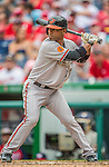 27 May 2013: Baltimore Orioles infielder Alexi Casilla in action against the Washington Nationals at Nationals Park in Washington, DC. The Orioles defeated the Nationals 6-2, taking the Memorial Day, first game of their interleague series. Mandatory Credit: Ed Wolfstein Photo *** RAW (NEF) Image File Available ***