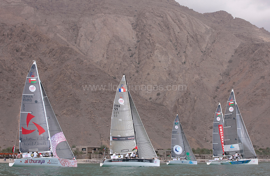 Sailing Arabia The Tour 2012. Ziggy Bay.Dibba. Oman..Credit: Lloyd Images