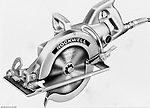 Client: Rockwell Standard<br /> Ad Agency: Ketchum MacLeod and Grove<br /> Product: Rockwell Power Tools<br /> Location: Brady Stewart Studio, 725 Liberty Avenue Pittsburgh<br /> <br /> This was an artist's rendering from a photograph taken by Brady Stewart Studio. Image was used in a new products catalog.<br /> Rockwell Standard acquired Porter-Cable Power Tools in 1960. Rockwell was unsuccessful growing the business in the consumer market so  in 1981 sold the business to Pentair Inc.