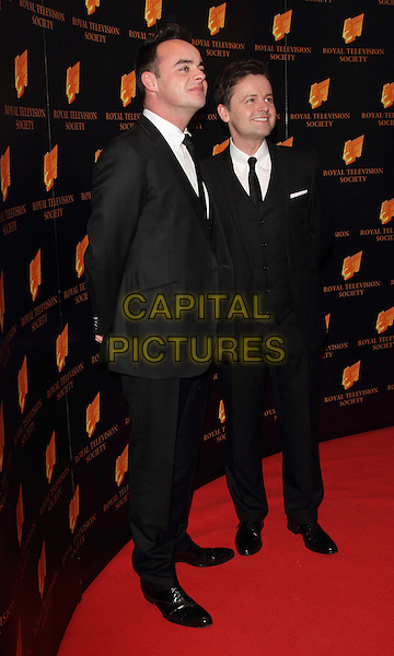 LONDON, UNITED KINGDOM - MARCH 18: Ant and Dec attends the RTS programme awards at Grosvenor House, on March 18, 2014 in London, England.<br /> CAP/ROS<br /> &copy;Steve Ross/Capital Pictures