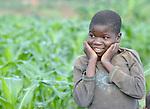 A boy in Matuli, a village in northern Malawi.