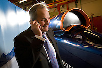 15.12.2009.Photo © Tim Gander. All rights reserved. Tel: 07703 124412..Richard Noble, project director for the Bloodhound SSC project, which hopes to design and build a car capable of 1,000mph.