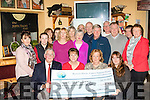 Charity<br /> ----------<br /> Seated L-R Dermot Crowley, recovery haven, Mary Lynch, organiser, Maria Barnes, recovery haven and Sandra Finn, organiser presented a cheque last Saturday night in the Junction Bar Camp after collecting the money during the Jamie Wrenn memorial walk from Tralee to Castlegregory last July.