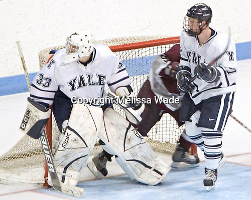 Alec Richards, Tyler Burton, Shawn Mole - Colgate University defeated Yale University 6-2 at Ingalls Rink in New Haven, CT on November 5, 2005.