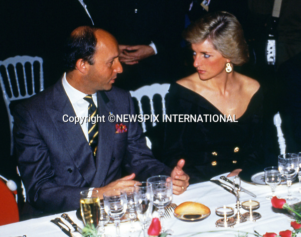 1988; Paris, France: PRINCESS DIANA AND PRINCE CHARLES<br /> make an official visit to France.<br /> Princess Diana with Laurent Fabius.<br /> Mandatory Credit Photo: &copy;Francis Dias/NEWSPIX INTERNATIONAL<br /> <br /> (Failure to credit will incur a surcharge of 100% of reproduction fees)<br /> IMMEDIATE CONFIRMATION OF USAGE REQUIRED:<br /> Newspix International, 31 Chinnery Hill, Bishop's Stortford, ENGLAND CM23 3PS<br /> Tel:+441279 324672  ; Fax: +441279656877<br /> Mobile:  07775681153<br /> e-mail: info@newspixinternational.co.uk<br /> Please refer to usage terms. All Fees Payable To Newspix International
