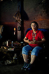 Winnemem tribal leader Caleen Sisk in their tribal prayer house in Jones Valley, Calif., May 16, 2012..CREDIT: Max Whittaker/Prime for The Wall Street Journal.CEREMONY.