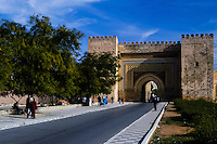 Morocco. The Bab el-Khemis Gate in Meknes.