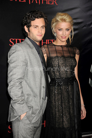 Penn Badgley and Amber Heard attend the premiere of 'The Stepfather' at the SVA Theater in New York City. October 12, 2009.. Credit: Dennis Van Tine/MediaPunch