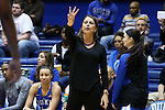 08 November 2015: Duke head coach Joanne P. McCallie. The Duke University Blue Devils hosted the Saint Leo University Lions at Cameron Indoor Stadium in Durham, North Carolina in a 2015-16 NCAA Women's Basketball Exhibition game. Duke won the game 116-33.