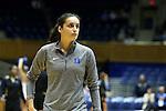 05 November 2015: Duke's Angela Salvadores (ESP). The Duke University Blue Devils hosted the Pfeiffer University Falcons at Cameron Indoor Stadium in Durham, North Carolina in a 2015-16 NCAA Women's Basketball Exhibition game. Duke won the game 113-36.