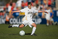 Akron's Scott Caldwell (15) shoots and scores the winning goal. 2010 NCAA D1 College Cup Championship Final Akron defeated Louisville 1-0 at Harder Stadium on the campus of UCSB in Santa Barbara, California on Sunday December 12, 2010.