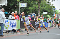 INLINESKATEN: HALLUM: 07-09-2013, KPN Dutch Open Inline 100km, Crispijn Ariëns, ©foto Martin de Jong