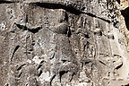 Picture of Yazilikaya [ i.e written riock ], Hattusa  The largest known Hittite sanctuary. 13th century BC made in the reign of Tudhaliya 1V . 3