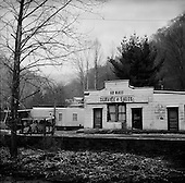Switzer, West Virginia.USA .January 16, 2005..An old abandon coal mining town shop.
