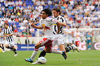 Irving Garcia (99) of the New York Red Bulls and Alessandro Del Piero (10) of Juventus F. C. The New York Red Bulls defeated Juventus F. C. 3-1 during a friendly at Red Bull Arena in Harrison, NJ, on May 23, 2010.