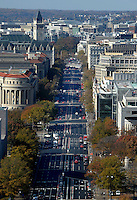 View down Pennsylvania Avenue looking west from the top of the recently restored US Capitol dome, November 15, 2016 in Washington, DC. <br /> Credit: Olivier Douliery / Pool via CNP /MediaPunch