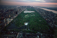 Central Park, New York City, New York, Manhattan, aerial