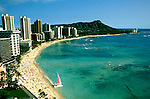 Hawaii: Honolulu, Waikiki Beach and Diamondhead. Photo:hihono101.Photo copyright Lee Foster, 510/549-2202, lee@fostertravel.com, www.fostertravel.com