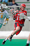 1 April 2008: Fairfield University Stags' Midfielder Ryan Mulford, a Freshman from Crownsville, MD, in action against the University of Vermont Catamounts at Moulton Winder Field, in Burlington, Vermont. The Catamounts rallied to overcome a five goal deficit and defeat the visiting Stags 9-8 notching their third win of the season...Mandatory Photo Credit: Ed Wolfstein Photo