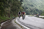 Wounded Iraq and Afghanistan war veterans Yancy Baer (left) and David Lau (center) bicycle up the Hai Van Pass in central Vietnam last week as part of a six-day ride to raise money for Vietnam veterans who want to return for the first time, but cannot afford it. Baer, 42, of Choctaw, Okla., lost his lower left leg to cancer after sustaining a non-battle injury in Iraq in 2009. Lau, 39, of Olympia, Wash., was severely wounded by a suicide bomber in Afghanistan in 2012. They say that Vietnam veterans have supported them  the most during the wartime service and rehabilitation and now they want to return the favor. Along with two other veterans not pictured, they helped raise more than $40,000 for the cause through the group Operation Comfort. April 1, 2014.
