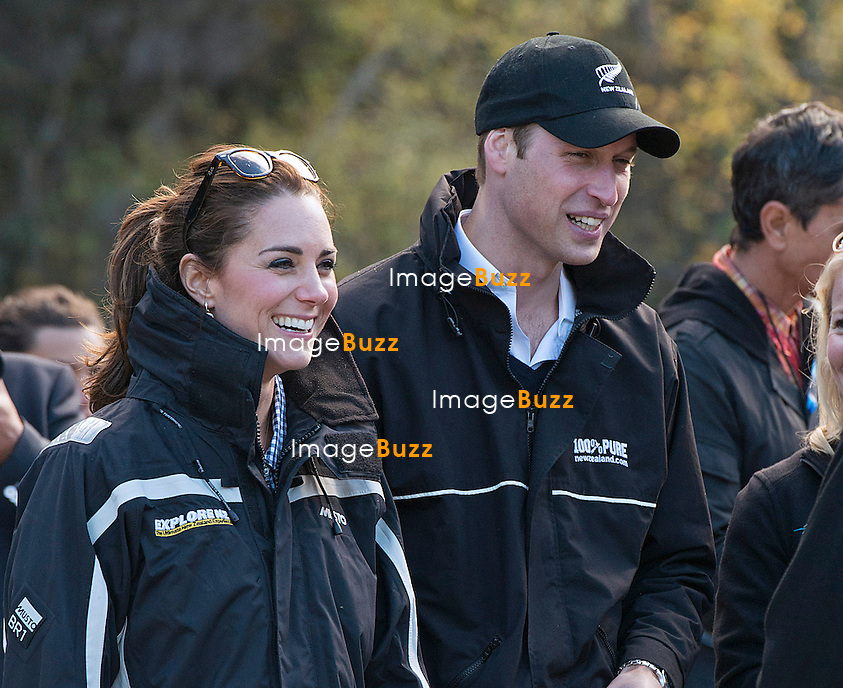 KATE, DUCHESS OF CAMBRIDGE AND PRINCE WILLIAM<br /> take a spin in a Shotover Jet on the Shotover River in Queenstown_13/04/2014