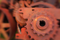 Rusted Gears - Pottsville - Merlin, Oregon - Lensbaby