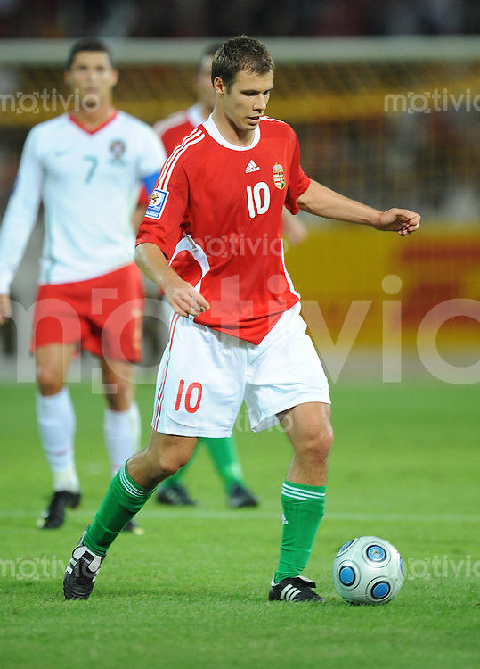 Fussball International   WM  2010  Qualifikation  Gruppe 1    09.09.2009 Ungarn - Portugal Krisztian Vadocz (HUN)